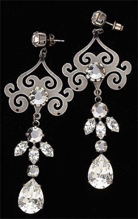 Rhinestone Dangling Earrings