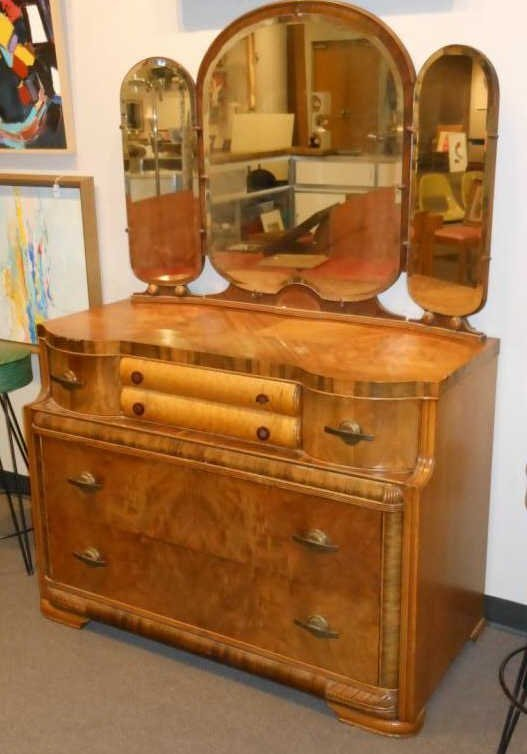 ART DECO WATERFALL DRESSER Lot 110