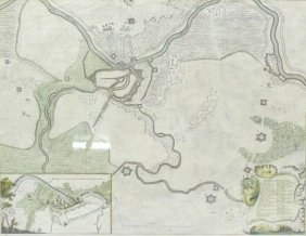 ANTIQUE MAP OF THE CITY OF DENDERMONDE: