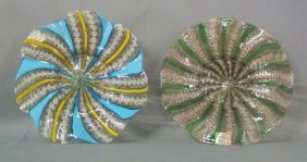 PAIR VENETIAN GLASS PLATES: