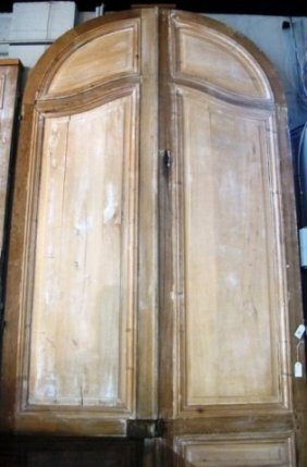 ANTIQUE ARCHED OAK DOORS: