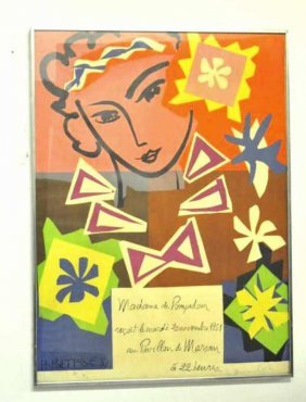 Henri Matisse Editioned Exhibition Poster