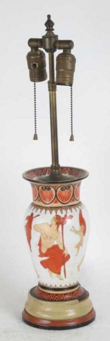 Empire Vase Mounted As A Lamp