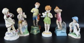 Group 6 Royal Worcester Doughty Figurines
