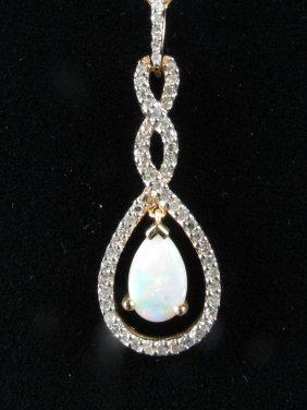 Diamond & Opal Pendant