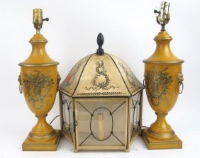 Group 3 French And Italian Tole Lamps