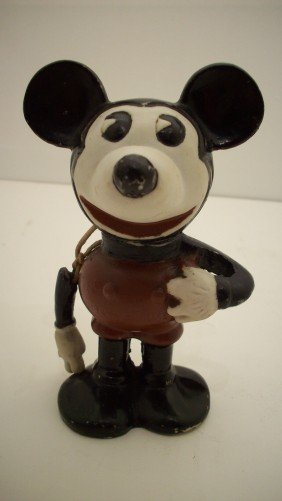 1930's Pie Eyed Mickey Mouse Bisque Figure