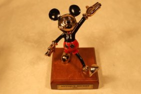 "Disney ""antique Mickey 1931"" Painted Pewter"
