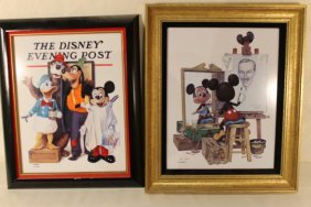 Pair Of Disney Limited Edition Lithographs Framed