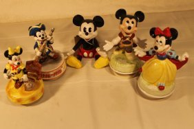 Lot Of 5 Schmidt Disney Character Music Boxes