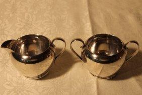 Gorham Sterling Silver Creamer & Sugar Set