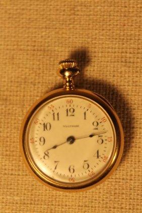 18kt Gold Waltham Ladies Pocketwatch