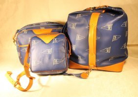 3 Pc Set Of Louis Vuitton America's Cup Luggage