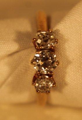 14kt Gold Victorian Diamond Ring