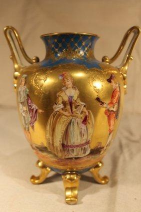 Vienna Porcelain Double Handled Vase