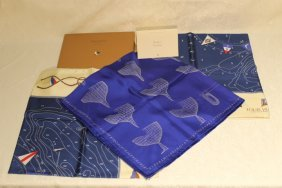 Three Louis Vuitton America's Cup Scarves
