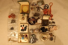 Lot Of Costume And Gold Jewelry
