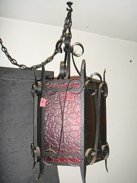 Estate Vintage Wrought Iron Hanging Chandelier