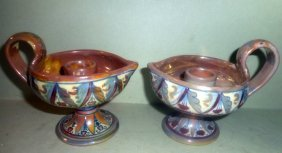 Pair Of Italian Candleholders