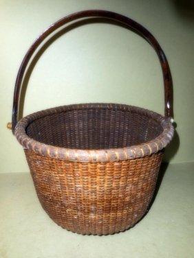 Nantucket Basket With Handle