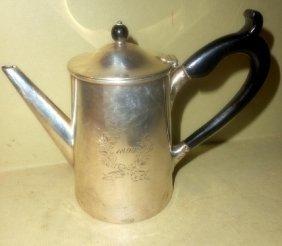 Sterling Monogrammed Tea Pot