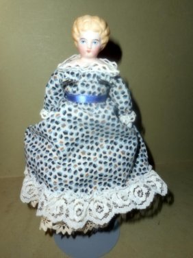 Antique Bisque Porcelain Doll