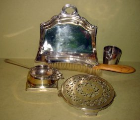Interesting 5 Piece Lot Of Silver Plate
