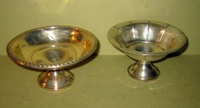 Two Sterling Silver Candy Dishes
