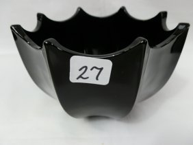 Fenton Black Umbrella Bowl