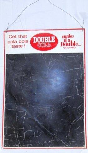 Vintage Metal Double Cola Menu Board