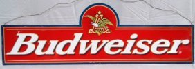 "Metal 46"" Budweiser Beer Sign"