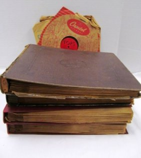 Lot Of 4 Full Folders + A Dozen Or So Loose Antique