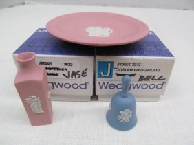 3 Pieces Miniature Wedgwood Pieces ~ Vase ~ Plate ~
