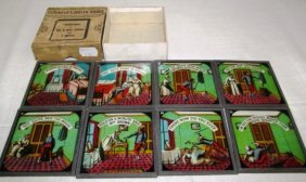 Vintage Magic Lantern Glass Slides ~ Coloured Lantern
