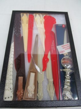 Lot Of 13 Vintage Advertising Letter Openers ~ Some