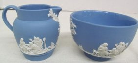 Lot Of 2 Miniature Wedgwood Pieces ~ Pitcher & Bowl
