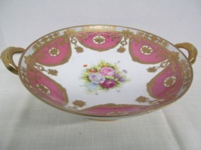 Vintage Gold Trimmed Noritake Hand Painted Handled