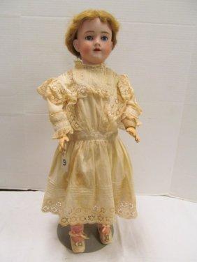 "Antique (74) German Handwerck 27 1/2"" Open Mouth Doll ~"