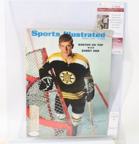 Bobby Orr Autographed Sports Illustrated With Authen