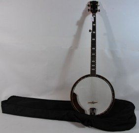 Cameo 5 String Banjo In Soft Case With Maple Neck