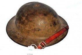 "WWI English """"DoughBoy Style"""" Helmet With Origina"