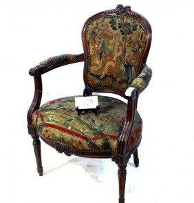 Needlepoint Victorian Arm Chair