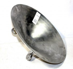 Silver Plated Decorative Bowl With Three Legs