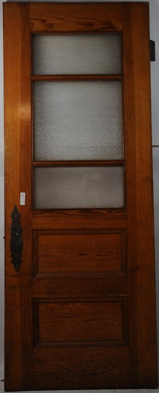 646 32x80 5 panel door with frosted glass in three pan lot 646 for 5 panel frosted glass interior door
