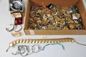 Costume Jewelry Lot With Sterling