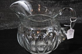 """8"""" Heisey Pitcher And 10 1/2"""" From Spout To Handle"""