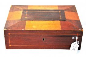 """Shaker Box Including: Pair Of 3""""x3"""" Needlepoints Ci"""