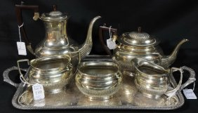 Nickel Silver Tea Set