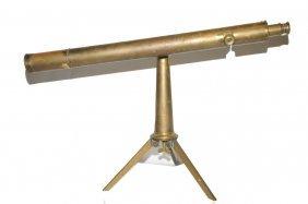 Antique Brass Telescope Signed Ross London