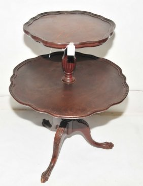 Mahogany Butler Table, Two Tiers And